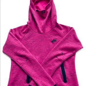 Nike Hoodie Jacket Size Medium Thumb Holes Pink